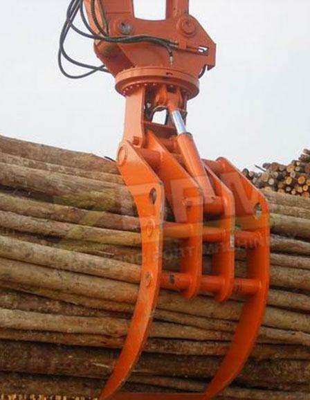 挖机木材抓斗